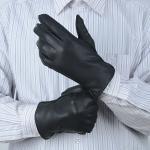 Gants en cuir mous avec les gants en cuir véritables des hommes classiques d'hiver de cuir de peau de daim de la catégorie A