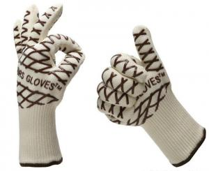 China knit heat-resistant grill gloves on sale