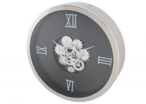 China guangzhou factory produce new material metal Gear Wall Clock , Metal Roman Numeral Clock HY-G053-B on sale