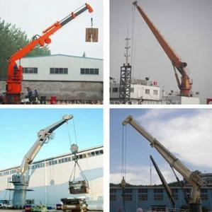 China Deck Cargo Handling Marine Crane on sale