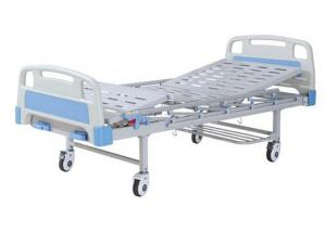 China Durable Manual Hospital Beds With Rails , Hospital Adjustable Bed Double Crank Operation on sale