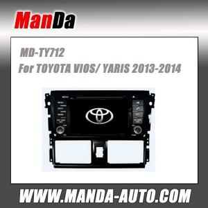 China 10.1 inch android Radio Car Audio Gps 2 Din Cheap Car DVD Player With GPS For Toyota vios 2014 on sale