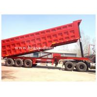 China Three BPW axles 45 Tons off road triple axle dump trailer for agricultural with warranty on sale