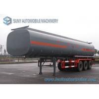 Customized Oil Tank Trailer 42000L Trapezoid Alcohol Chemical Tank Trailer 0.9 Bar