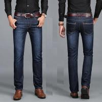 China Stable Quality Latest Straight Design Men Business Jeans Casual Fashion Denim Jeans on sale