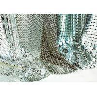 Shape Customized Shiny Metallic Fabric , Versatility Metal Mesh Cloth Smooth Surface