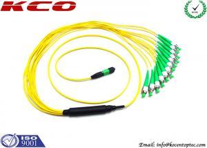China 40G Fiber MPO MTP Patch Cord FC APC 12 Optical Fiber Jumpers on sale