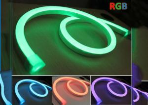 China Decorative 24V Neon Led Flexible RGB, Color Changing RGB Led Neon Rope Light on sale