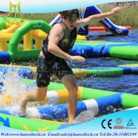 China Hansel popular happy hop inflatable water slide in the lake or sea on sale