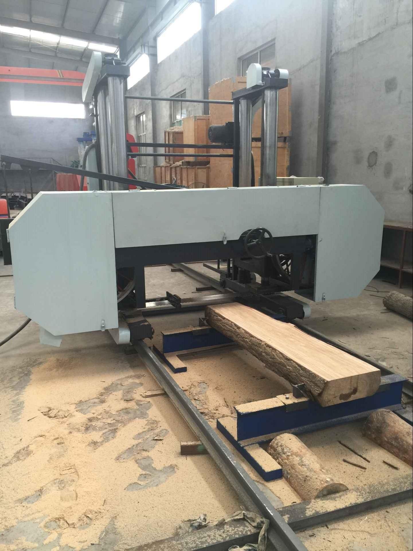 wood bandsaw heavy duty large size horizontal band sawing machine