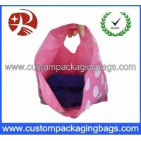 Promotional Pretty Anti-Static Die Cut Handle Plastic Bags For Household