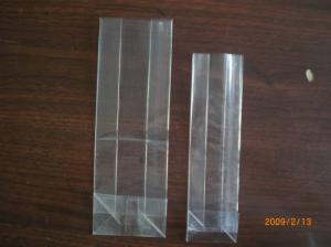 China BOPP Clear and Transparent Block Square Bottom Bags for Food, Gift Packaging on sale
