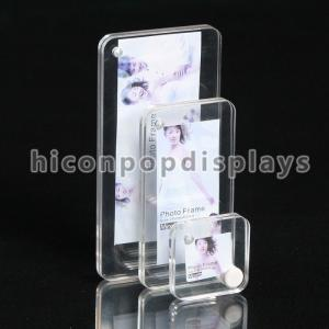 China Household Clear Acrylic Photo Stands / Tabletop Photo Display Stands on sale