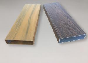 China High Precision Seamless Aluminium Tube Profiles Wood Color Surface Decoration on sale