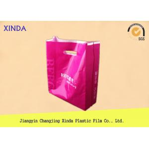 China Customized up to 12 colors print PE die cut shopping plastic gift promotional bags on sale