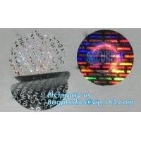 foil lenticular hologram void sticker label,warranty seal sticker security void sticker label tamper proof sticker pack