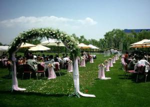 China 32mm Soft Plastic Artificial Grass For Wedding Decoration 4 Tone Wear Resistance on sale