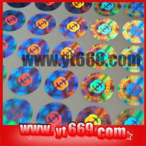 China Manifold hologram sticker on sale