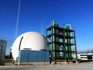 China Hydrogen Sulfide Biogas Purification System Strong Exothermic Reaction on sale