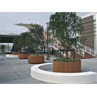 China WPC Plaza Parterre Decking Projects / WPC Construction Wood Plastic Composite Board on sale