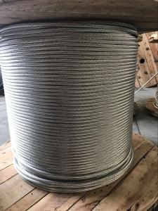 Quality ASTM Metal Galvanized Steel Rope , Galvanized Aircraft Cable RHOL / LHOL Lay for sale