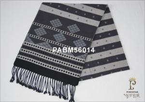 China Neck Woven Silk Scarf Black And White Stripe For Keep Warm , 30X165CM on sale