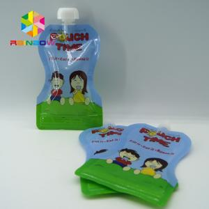 China Custom Reusable Liquid Stand Up Liquid Spout Bags Baby Food Packaging Bag on sale