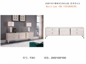 China American style Living room furniture Floor stand for TV table in light luxury Stainless steel metal with Coffee table on sale