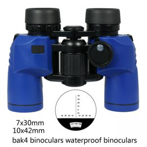 China blue 7x30 waterproof binoculars and compass 10x42 rangefinder marine waterproof binoculars on sale
