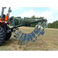 8FT Chain Harrow Landscape Lawn Drag Arena ATV Rake,Flexible Pasture Harrow with Drawbar