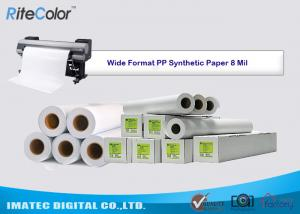 China Tear Resistance PP Synthetic Paper 8 Mil Water - Based Matte Polypropylene Film on sale