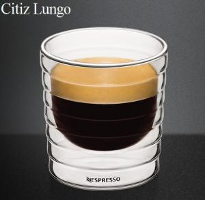 Double Walled Glass Nespresso Citiz Lungo Coffee Cup Cups150ml Can Make Your Own Logo