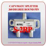 Diviseur bidirectionnel de CATV/MATV avec le PIN rond de 360 degrés