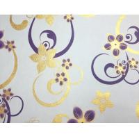 Golden Inlaid PVC Table Cloth