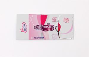 China Modifique los bolsos reciclables/las bolsas de la servilleta para requisitos particulares sanitaria del escudete on sale