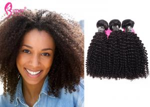 China Unprocessed Thick Remy Human Hair Extensions Mongolian Tight Kinky Curly on sale