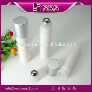 China SRS 30ml free sample black empty plastic roll on bottle travel containers for cosmetics on sale
