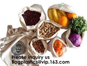 China Reusable Produce Bags of Unmatched Quality - Natural Cotton Mesh is Biodegradable,Cotton Packing Bags For Fruit & Vegeta on sale