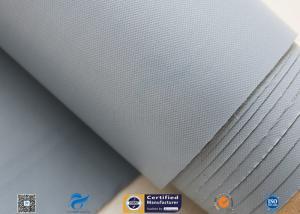 China 0.25mm 280g Waterproof PVC Coated Fiberglass Fabric Cloth For Flexible Fabric Duct on sale