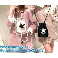 China Clear PVC Bag Hologram Bag EVA Bag Cosmetic Bag Toiletry bag Drawstring Bag Bikini Swimwear Bag Cosmetic Packaging Bag on sale