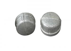 China Hot / Cold Dipped Galvanized Pipe Cap , 2 3 8 Metal Pipe End Caps No Impurities on sale