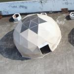 Flame Retardant 6m Geoshelters Geodesic Dome Tent With Roof Lining For Hotel