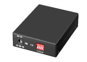 China RJ45 To SFP Single Mode Media Converter Large Capacity With DIP Switch on sale