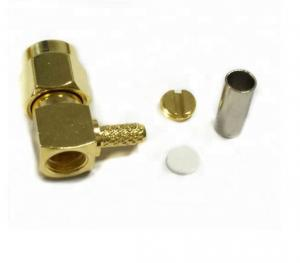 China SMA Male Plug Rf Antenna Connector , RF Coaxial Adapter For RG174 Lmr100 Cable on sale