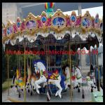 China RGB lights Fiberglass Carousel For Sale 16seats With Animals Amusement Park Carousel wholesale