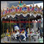China RGB lights Fiberglass Carousel For Sale 16seats With Animals Amusement Park Carousel wholesale