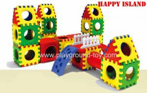 China Combination Indoor Playground Kids Toys For Plastic Link Building Blocks Slide on sale