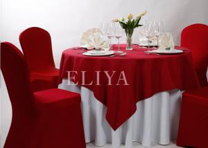... Quality White / Blue / Red Round Luxury Hotel Table Cloth / Tablecloths  For Weddings Or