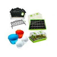 China Plastic Garden Seedling Plant Propagator Mini Greenhouse with Lids and Seed Nursery Tray on sale
