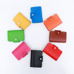 China RTS Hot selling PU leather women credit card bag card holder ID holder wallet with 24 card slots on sale